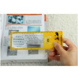 Magnifier plástico Hw-805A da lente de Fresnel do cartão de crédito do negócio do PVC