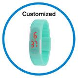 Женщины Wristwatch браслета силикона цвета конфеты водоустойчивые одевают цифровые вахты