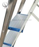 4 Pasos de la escalera en el hogar de acero inoxidable