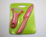 Schönheits-Geschenkezirconia-roter Griff-keramisches Messer-Küche-Set
