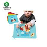 Cute Baby Feeding Pattern silicone mat avec Non-Slips