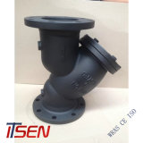 API/ANSI Roheisen (ASTM A126 GRAD B) 125/150lb Grobfilter des Flansch-Enden-Y