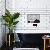 glatte fertige Farben-keramische glasig-glänzende Untergrundbahn-Badezimmer-Wand-Fliese der flachen Oberflächen-100X300 (LM1300)