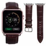 22mm Integated 진짜 가죽 시계 줄, Apple 시계 결박을%s 진짜 가죽 시계 줄