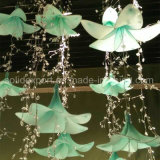 La primavera de lirio de la belleza de la ventana de cadena de cristal Decoración Flores artificiales para el Parque de Atracciones