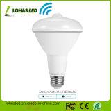 UL Ce RoHS TUV LVD FCC PSE CCC EMC AEA PIR Sensor de movimiento infrarrojos Lámpara LED para el mercado del Reino Unido EE.UU., BR30 Sensor de movimiento PIR bombilla LED
