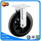 鋳鉄のコア踏面の固体ゴム製足車の車輪