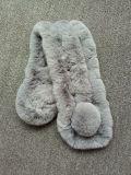 Sciarpa calda della pelliccia del coniglio di inverno sveglio per la signora