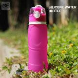 Fles 500ml van het Water van het Silicium van de Capaciteit van de verzending van het Ontwerp van de douane de Snelle Grote Opvouwbare