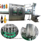 Vidro completa da garrafa plástica de suco de frutas de processamento de enchimento de bebidas a linha de produção de Embalagem