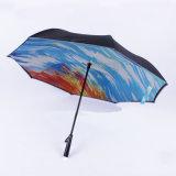 27 بوصة مقبض مستقيمة [لد] مظلة خفيفة, لعبة غولف مظلة مع [لد] مصباح كهربائيّ