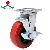Roja giratoria de ruedas de poliuretano colada Heavy Duty
