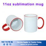 La sublimación de color blanco cerámica taza taza mágica Tazas de porcelana 11oz.