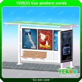 Publicité de plein air l'énergie solaire en acier inoxydable abri d'arrêt de bus