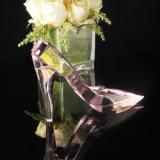 De mooie Met de hand gemaakte Roze Schoenen van het Kristal voor de Giften van het Huwelijk