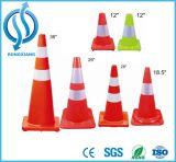 Da cor brilhante de borracha do tráfego da altura da segurança de estrada 45cm/70cm/90cm cone reflexivo