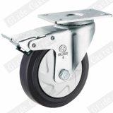 중간 의무 최고 브레이크 G3414를 가진 탄력 있는 고무 피마자 바퀴