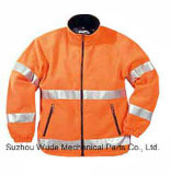 Uja007poliéster Oxford PVC/PU Non-Breathable/PU respiráveis cubra pano reflexivo Parka Casaco Worksuit Raincoat