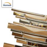 光沢のあるストリップの組合せカラー安く割れた線形クリスタルグラスのモザイク