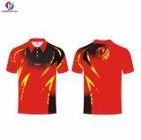 Polyester-professionelles kundenspezifisches Polo-Hemd der Qualitäts-Sportswear100%