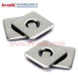 Rondelles DIN436 carrées pour l'usage dans des constructions de bois de construction