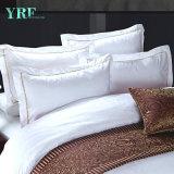 Niedriger Preis-weißes Hotel-Baumwollblatt-Set