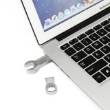 Speicher-Stock-kühle Hilfsmittel Pendrive des USB-Blitz-Laufwerk-Metallvierkantspannschlüssel-Feder-Fahrer-4GB 8GB 16GB 32GB 64GB
