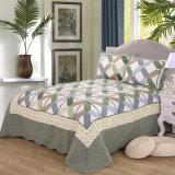 Настраиваемые Prewashed прочного удобные кровати стеганая 3-х покрывалами Coverlet установлен зеленый головоломки