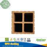 De houten Plastic Samengestelde Post van de Leuning (90*90 mm) met Aangepaste Kleuren