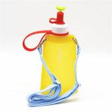 11oz geben zusammenklappbares Silikon BPA Sport-Wasser-Flasche für im Freien frei