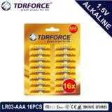 Alkalische trockene Batterie mit dem Cer genehmigt für Blasen-Karte des Spielzeug-18PCS (LR03-AAA Größe)