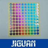 L'impression CMJN de l'argent Laser adhésif autocollant hologramme authentique sécurisé