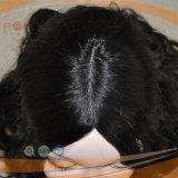Europäische Jungfrau-Haar-Haut-Oberseite-Frauen-Perücke (PPG-l-0329)