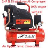 1HP Portable Mini Huile rotative entraîné directement compresseur à air
