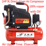 1HP小型携帯用回転式オイルの直接運転された空気圧縮機