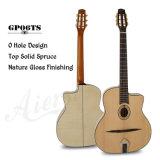 Aiersi овальной отверстие изготовленной вручную цыганского джаза гитара (GP06T)