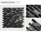 水晶壁のタイルのガラスストリップの混合された自然な石造りのモザイク・ガラスのタイル