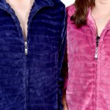 Haute qualité flanelle fermeture éclair laine polaire femme peignoir de bain