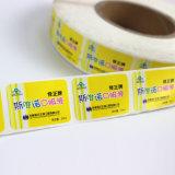 Contrassegno trasparente di stampa dell'imballaggio dell'autoadesivo adesivo su ordinazione