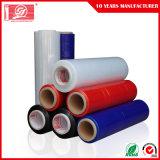 Película de estiramento do envoltório LLDPE do estiramento da cor LLDPE do envoltório acessível vermelho/pálete