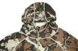 2018 Fitness Men' S Merino Wool Long Sleeve Quarter Zip Camouflage Hoodie for Sports