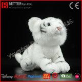 En71現実的なぬいぐるみのプラシ天のおもちゃの柔らかく白いトラ