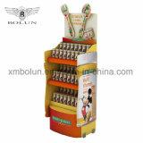 Bebida fresca Expositor de suelo de cartón para bebidas