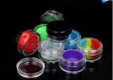 La Base de plástico transparente con negro atornille la tapa de silicona/ Insertar 38 X 19mm 5 ml por cada lado.