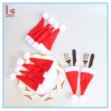 작은 크리스마스 모자 칼붙이 홀더 포크 덮개 소형 산타클로스 모자