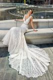 Amelie felsiges Nixe-Spitze-Sommer-Hochzeits-Kleid 2018