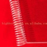 Espiral transparente de alta calidad tubo de cuarzo
