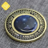 prix d'usine face militaire commémorative personnalisée de l'émail Coin