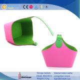 Cor brilhante para uso doméstico PU cestos de armazenamento de couro (6423)