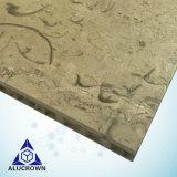 Motif artistique sur la surface du panneau alvéolé Forexterior mur de pierre le revêtement de façade